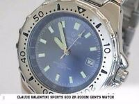As new Claude Valentini Sports 900 Water Resistant Watch