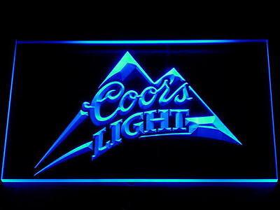 Blue Coors Light Led Neon Sign 12x8 Inches bar pub mancave