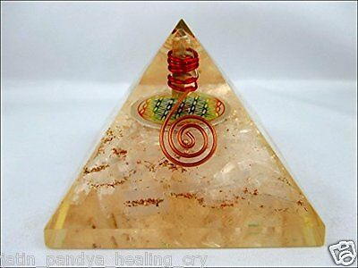 Jet Selenite Flower Of Life Orgone Pyramid Free Booklet Jet International