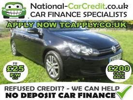 Volkswagen Golf TDi 2.0 TDI CR SE 5dr Good / Bad Credit Car Finance (black) 2009