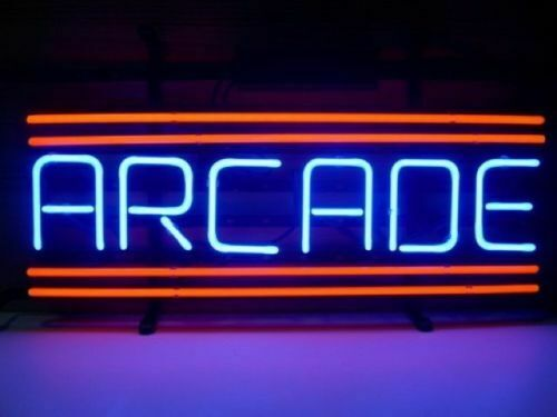"New Red Arcade Neon Light Sign 14""x10"" Beer Cave Real Glass"