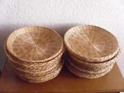 wicker paper plate holders ebay. Black Bedroom Furniture Sets. Home Design Ideas