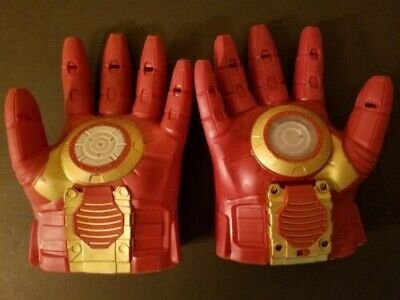 IRON MAN Repulsor Light Up Right Glove With Sound + Non Light Up Left