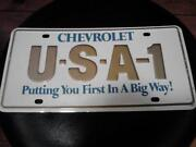 USA 1 License Plate