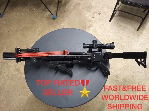 Sling Shot Gun Catapult Hunting Rifle Semi-Automatic Hunt Enhanced Version 2021