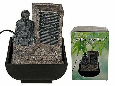 Buda Interior Fuente de Agua Feng Shui Cascada Característica