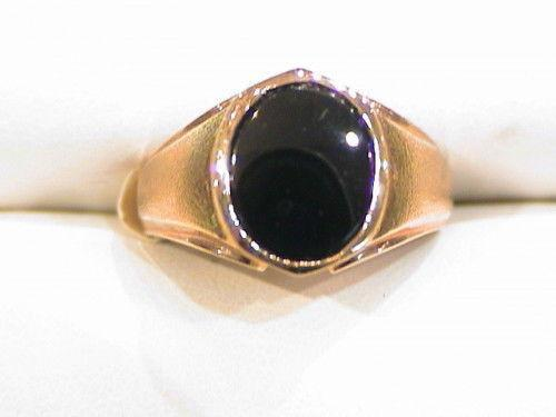 Vintage Mens Black Onyx Ring Ebay