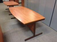 LARGE DARK WOOD BOARDROOM TABLE, MEETING ROOM, OFFICE, 200CM X 100CM X 72CM