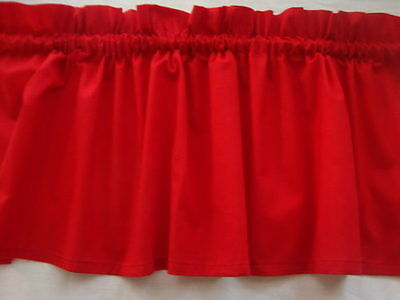 Bright  Red Valance Curtain for Classroom or Any Room Window Treatment Custom](Classroom Curtains)