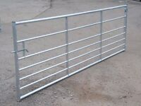 4.2 METRES / 14ft galvanised metal gate cost over £200 when new. still in VGC