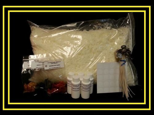 Soy Wax Candle Making Kit w/10 lbs. Wax, Scents, Wicks & Dye  **Free Shipping**