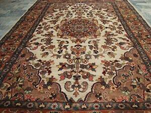 Guleaina Flowral Classic Designed Area Rug Hand Knotted Wool Silk Carpet (6 x 4)'