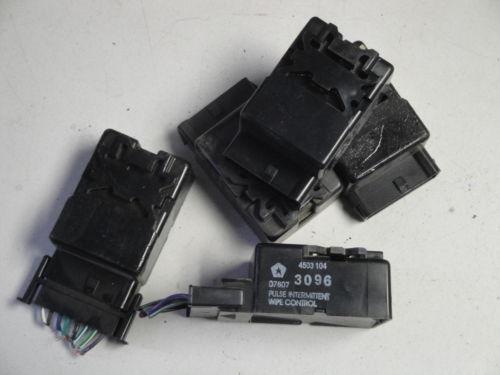 wiper module intermittent wiper