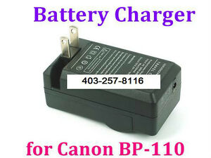 BP-110 BATTERY CHARGER FOR CANON CG-110 HF R206 R21 R20 R200 R28