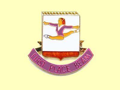 First Place Beam Gymnastics Award Lapel Pin GOOD GOING!