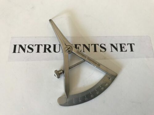 """Castroviejo Calipers Angled 3.5"""" Dental Surgical Inst"""