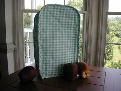 Sage Green Gingham Mixer / Coffeemaker Appliance Cover Fabric