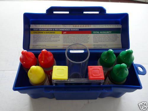 Pool Test Kit Water, 5-Way, pH Acid Chlorine, Bromine, Spa H