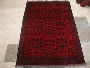 Afghan Khal Muhamadi Excellent Designed Rectangle Area Rug Wool Hand Knotted Carpet (4.10 x 3. 5)'