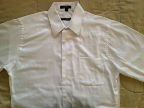 Wrinkle free white shirt ebay for How do wrinkle free shirts work