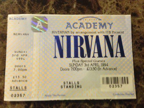 Nirvana Ticket Ebay