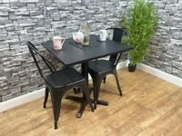 Heavy Duty Contract Quality Laminate Black Square 700mm