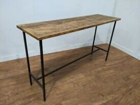 New Large Heavy Duty Bespoke Hand Crafted Industrial Poseur Table 1700x670mm