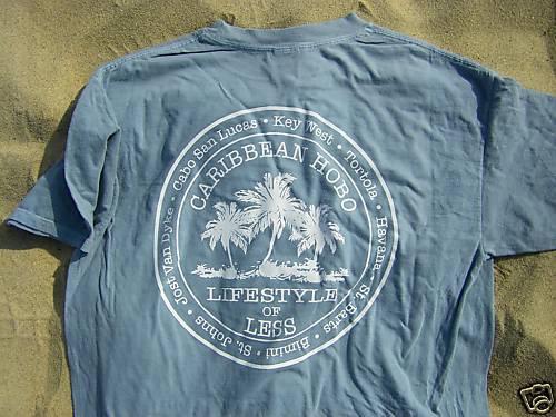 XL Caribbean Hobo T-shirt  Key West Havana parrot cuba