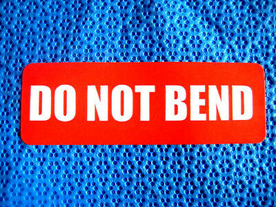 500 1x3 Do Not Bend Labels Stickers