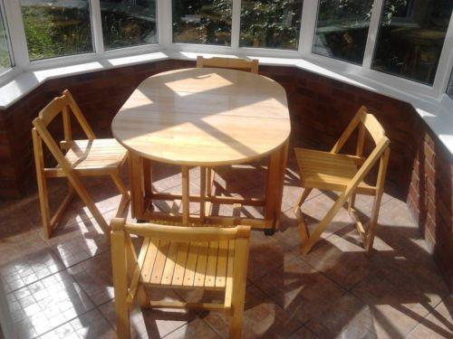 Folding Dining Table and Chairs | eBay