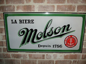 WANTED ARTICLES MOLSON BEER SIGNS TRAYS TAVERN POSTERS