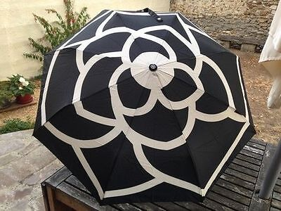 New Chanel Umbrella VIP Gift- Black Camellia With Gift Box and Carry Bag + a Pen
