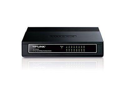 TP-LINK 16 Port Fast Ethernet Desktop Switch LAN Network Hub Wired RJ45 Splitter