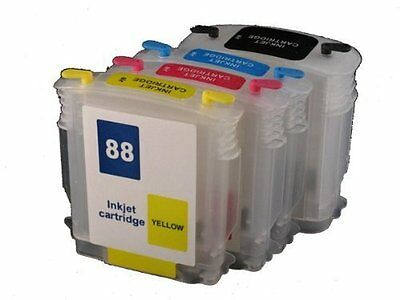 Refillable Ink Cartridge 88 88xl For Hp Officejet Pro K55...