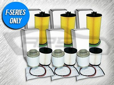 3 OIL FILTERS & 3 FUEL FILTER SETS FOR FORD 6.4L TURBO DIESEL - VALUE PACKAGE