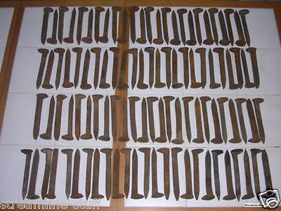 "100 Vintage Railroad Spikes Antique Blacksmith Train Track RR 6.5"" LOT OF 100"