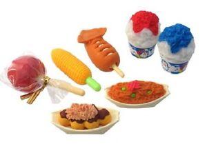 IWAKO Pencil Eraser - Japanese Festival Food 7pc Set Blister Pack ER-BRI043
