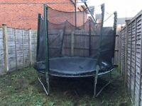 12 ft trampoline with safety net enclosure (missing rail)