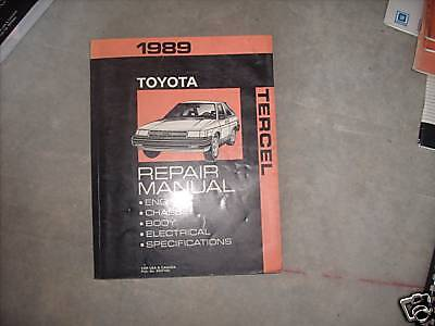 1989 TOYOTA TERCEL Service Shop Repair Manual FACTORY OEM 89 FACTORY BOOK