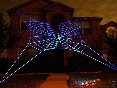 33' ULTRA GlowWeb Rope Spider Web  Halloween House Giant Yard Prop Decoration](Giant Spider Web Decoration Halloween)