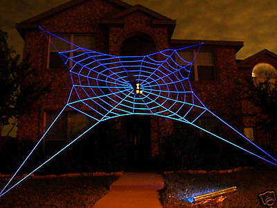 33' ULTRA GlowWeb Rope Spider Web  Halloween House Giant Yard Prop Decoration