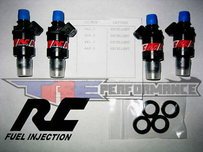 RC Engineering 550cc Fuel Injectors Fit Denso Scion Toyota Lotus GTS NEW 52 lb.