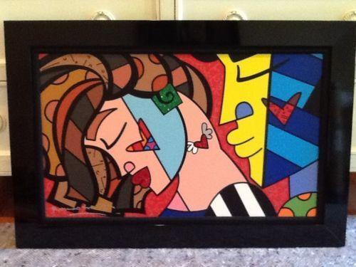 Romero Britto Painting | eBay