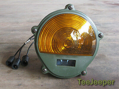 new Front Composite Light Amber 24V Jeep M151 A2 M35 11614156 for sale  Shipping to United States