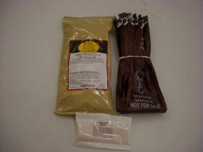 Venison Summer Sausage Kit Makes 25 Lbs - Seasoning Mahogany Casings Cure