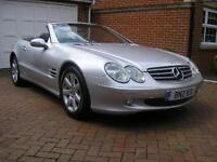 Mercedes-Benz SL500 Convertibe Auto/Tip Low Miles Silver 6 Month Guarantee Value