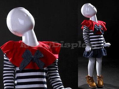 Child Fiberglass Abstract Mannequin Dress Form Display Mz-tom1