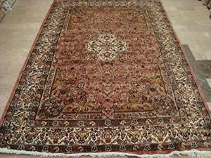 Exclusive Ivory Touch Hand Knotted Rectangle Area Rug Wool Silk Carpet (9 x 6)'