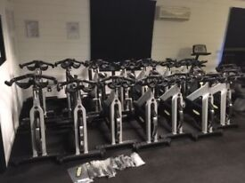 Technogym Spin Exercise bike in good condition screw button resistance