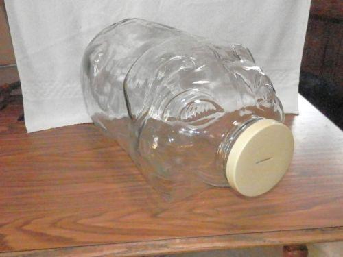 Large Glass Piggy Bank Ebay
